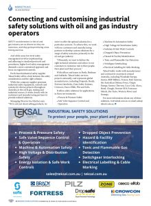 Teksal Safety editorial for Oil and Gas magazine
